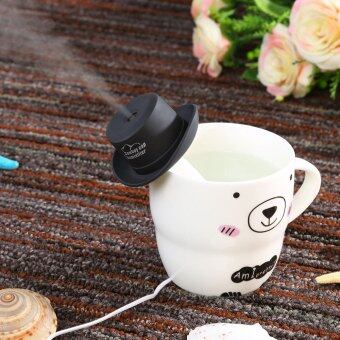 Harga USB Mini Humidifier Cowboy Cap Office Household Air Purification Humidifier Aromatherapy Mist Maker (Black)