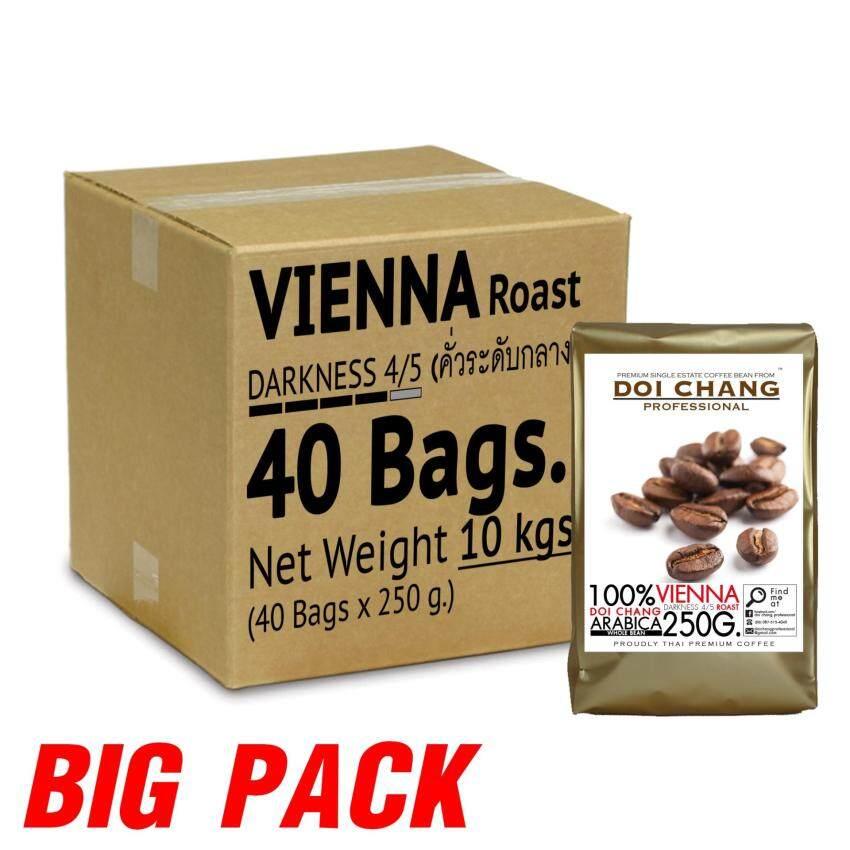 เมล็ดกาแฟคั่ว คั่วกลาง Vienna 10 kgs. (40×250g) แบบเมล็ด