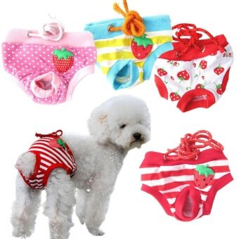 4Pcs Emale Pet Dog Puppy Diaper Pants Physiological Sanitary Short Panty (Size:L)