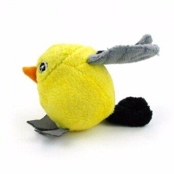 ลดราคา AFP นกท้องกลมสอดไส้แคทนิป สีเหลือง
