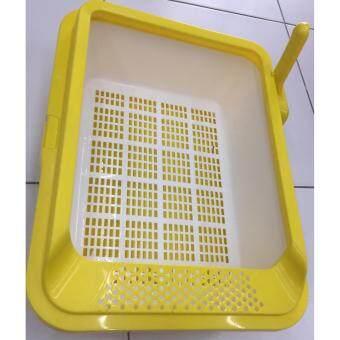 ChicaPet กระบะทรายแมวพร้อมที่ตัก สีเหลือง ขนาด 50x37x18 cm.