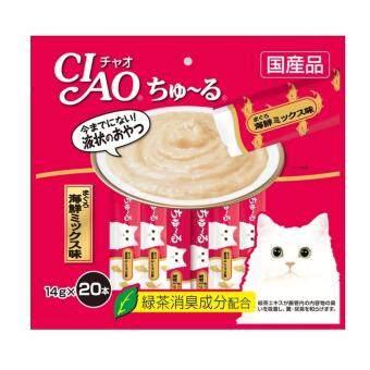 CIAO Churu ขนมแมวเลีย ชูหรู ปลาทูน่าเนื้อขาว จำนวน 20 ซอง