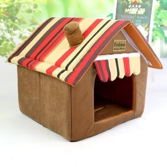 Harga Dismountable Dog Nest Four Seasons With The Dog Cat HouseDecorative Pattern Fabric Pet Nest Dog Cat Nest_coffee_xs - intl