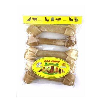 Dog Friend ขนมขบเคี้ยวสุนัข กระดูกผูก 7 นิ้ว สีธรรมชาติ 5 ชิ้น (1 ซอง)