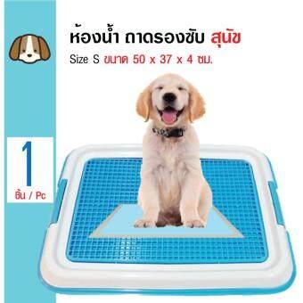 Dr.Lee ถาดฝึกฉี่ ถาดรองซับ ห้องน้ำสุนัข สำหรับสุนัขพันธุ์เล็ก Size S ขนาด 50x37x4 ซม. (สีฟ้า)