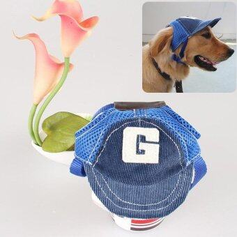 Fashion Pets Dog Cat Nocturnal Reflective Hat Sport Baseball Capwith Ear Hole - intl