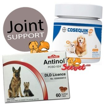 Harga Vetz Petz Antinol Soft Gel Caps 60 เม็ด + Cosequin Taste HA 40 เม็ด