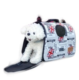Pet Dog Carrier House Cage(the Union flag) - intl