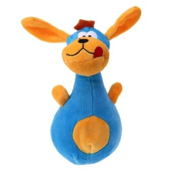 Pet Dog Interactive Funny Plush Chew Sound Toy(Blue) - intl