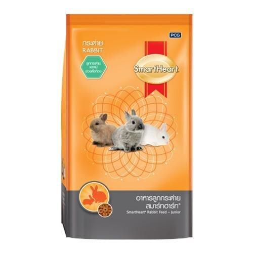 Smartheart สมาร์ทฮาร์ อาหารลูกกระต่าย ตั้งแต่หย่านม กระต่ายโตเต็มวัย ตั้งท้อง ช่วงให้นมลูก 1 กิโลกรัม Rabbit Feed for Junior to Pregnant Rabbit 1Kg