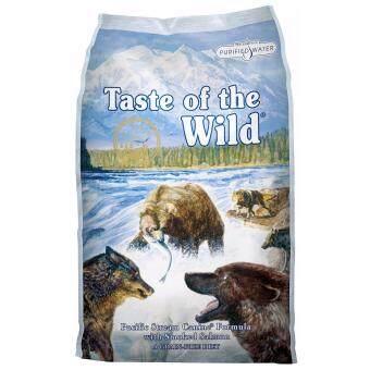 Taste Of The Wild Pacific Stream Canine® Formula with Smoked Salmonอาหารสุนัขเทสออฟเดอะไวด์ สูตรปลาแซลมอนรมควัน ขนาด30ปอนด์ (13.61กก.)