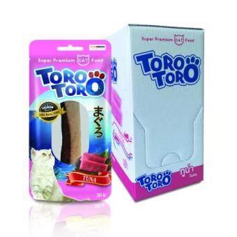Toro Toro โทโร โทโร่ ขนมแมว ทูน่า 20 g. x 12 ซอง