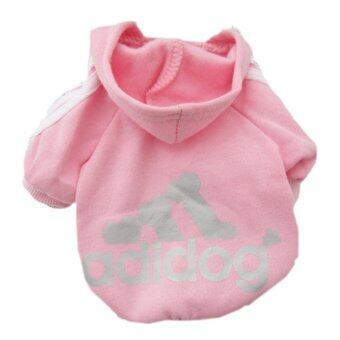 Harga YingWei Dog Pet Cat Sweater Hoody Coat Jacket Puppy clothes L(Pink)- intl