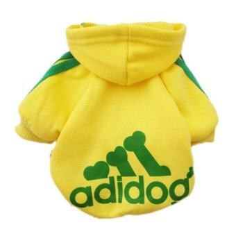 Harga YingWei Dog Pet Cat Sweater Hoody Coat Jacket Puppy clothesL(Yellow) - intl