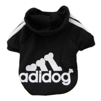 Harga YingWei Dog Pet Cat Sweater Hoody Coat Jacket Puppy clothesM(Black) - intl
