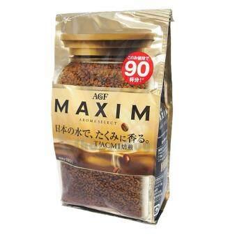 กาแฟ Maxim Aroma Select กาแฟสำเร็จรูป แม็กซิม สีทอง แบบรีฟิล 180กรัม