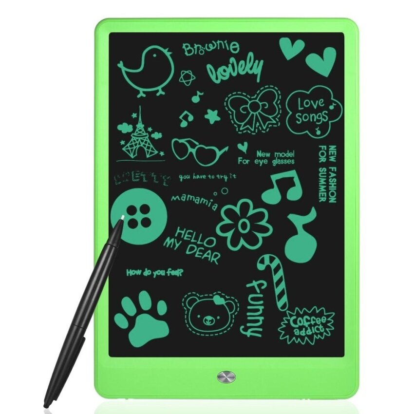 10 LCD Writing Tablet Digital Drawing Pad Memo Electronic Graphics Board Paperless Handwriting Notepad Small Blackboard Support Screen Clear Lock, with Pen - intl
