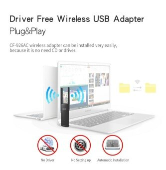 1200Mbps Dual Band 2.4/5.8Ghz Wireless Lan USB WiFi Adapter802.11AC w/ Antenna - intl