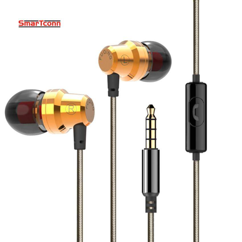 1.2M In-Ear Earphones bass stereo headset with iPhone and 3.5mm Android mobile phone headset metal support MP3 portable microphone