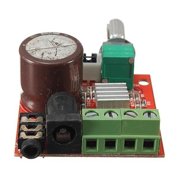 12V Mini Hi-Fi PAM8610 2X10W D Class Audio Stereo Amplifier Board Dual Channel - intl
