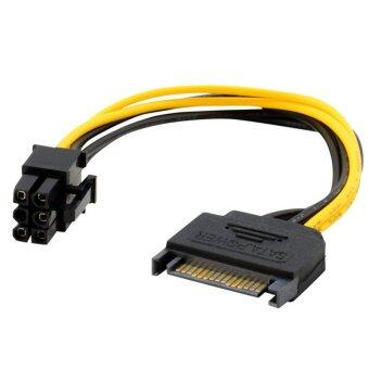 15pin SATA Power to 6pin PCI-e PCI Express Adapter Cable Video Card