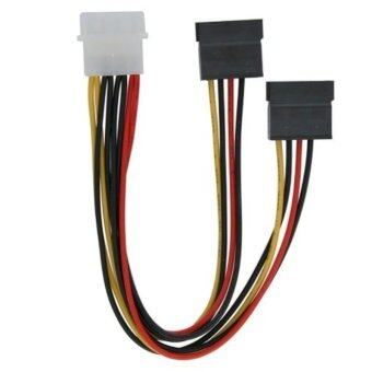 1pc New 4 Pin IDE Molex to 2 Serial ATA SATA HDD Drive PowerAdapter Cable - - intl