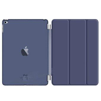 1st Cyber เคสไอแพด แอร์1 Magnetic Smart Cover and Hard Clear Back Case for iPad Air1 (Dark Blue)