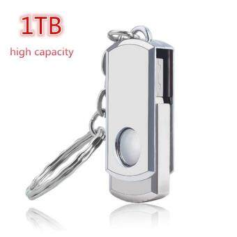 1TB U Disk Memory Disk Usb 2.0 Hot Sale New Usb Flash Drive PenDrive Pendrive Waterproof Metal Sliver - intl