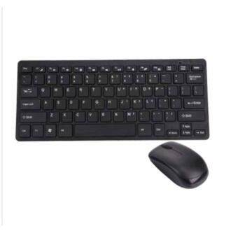 2.4G Ultra-Slim Wireless Keyboard and Mouse Combo Multimedia Keysfor PC Desktop With USB Receiver For Windows PC Desktop Laptopคีย์บอร์ด พร้อม mouse ไร้สาย (แถมฟรี สติกเกอร์ คีย์บอร์ด ไทย -อังกฤษ)
