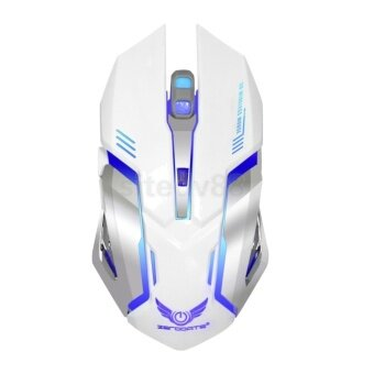 2.4GHz 2400DPI Wireless Gaming Mouse Mice Backlit for PC Laptop White 132220720948 - intl