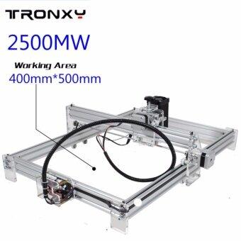 ประกาศขาย 2500mW 40x50cm Desktop DIY Violet Laser Engraver Picture CNCPrinter Assembly - intl