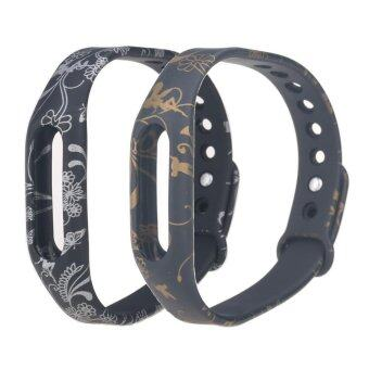 2PCS Replacement Wristband Strap for Xiaomi Smart Fitness MiBand/Mi Band 1S Band Wearable Wristband(No for xiaomi mi band 2) -intl