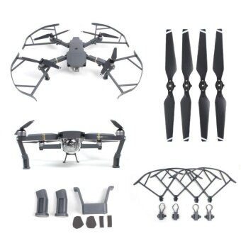 Harga 3 in 1 Mavic Pro Accessories kit Landing Gear + Protector Guard + Props Propellers Blade For DJI Mavic Pro - intl