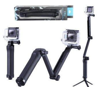 3 Way Multi function Folding Monopod Tripod Selfie Stick For Gopro Xiaomi SJcam