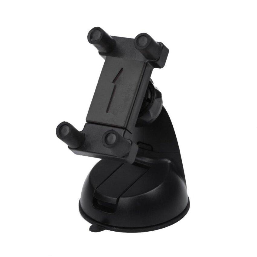 360 Rotating Car Windshield Cradle Mount for iPhone GPS (Black) - intl