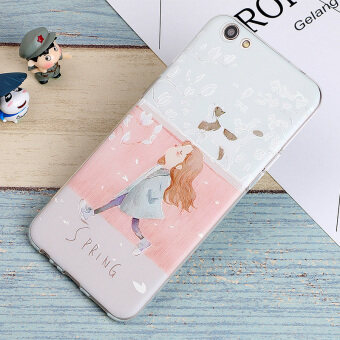 3D Relief TPU Soft Case for 5.5 inch OPPO R9S (Multicolor) - intl