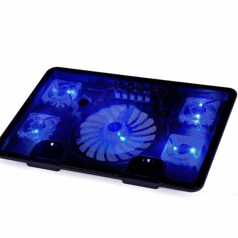 5 Fans 2 USB Cooler Pad Base LED Computer Fan Stand For Notebook Laptop PC - intl