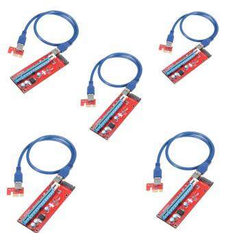 (5 Packs) USB SATA PCIe 1X to 16X Riser Card for Bitcoin Miner