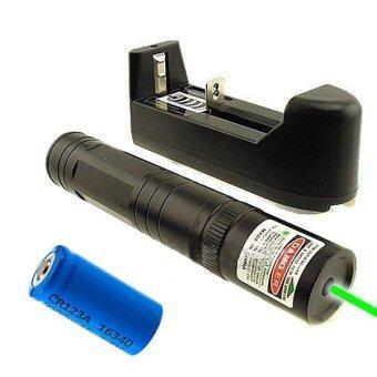 532nm สีเขียวส่องสว่างปากกาเลเซอร์พอยเตอร์ Lazer พลังงานสูง 5mw16340 ชาร์จ-