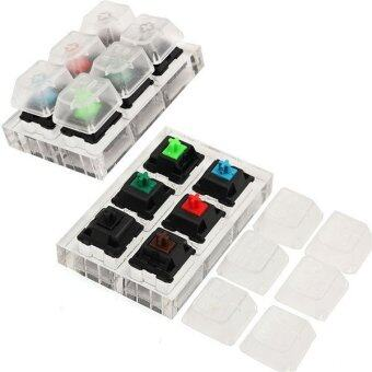 6x Acrylic Keyboard Tester Kit Clear Keycaps Sampler for Cherry MXSwitches - intl