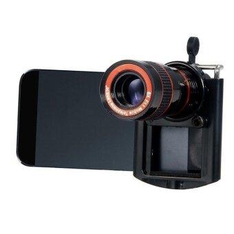 ยูนิเวอร์แซล 8 x ยาวโฟกัสเลนส์กล้องสำหรับกล้องโทรศัพท์มือถือ(สีดำ)-ระหว่างประเทศ - 5