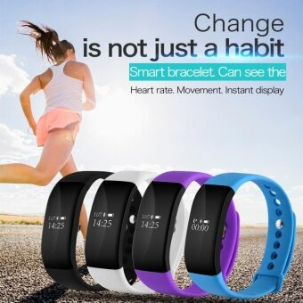 ADS 0.66\ Inch Smart Watch Bracelet Remote Camera Fitness Pedometer for iOS Android - intl