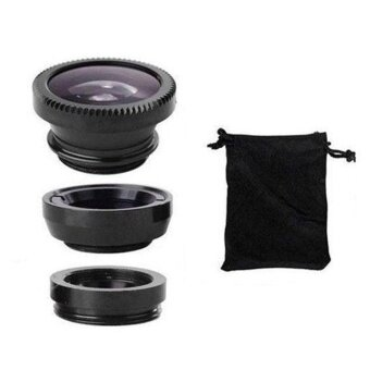 ADS Cell Phone Latest Technology Free Ship Fisheye Wide Angle Macro Lens For Mobilephone Camera 180° Photograph Shoot Kit - intl