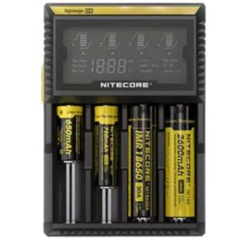 alithai NITECORE D4 LCD Screen Digicharger Charger For AA AAA 1865014500 Battery (Black)