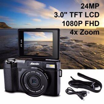 "Harga Amkov 24MP Digital Camera FHD 1080P Video 3"" LCD Camcorder with UVFilter - intl"