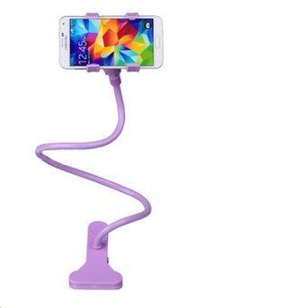 ampkoขาจับมือถือ ที่หนีบสมาร์โฟน แท่นวางไอโฟน แบบตั้งโต๊ะ - Purple