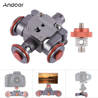 Andoer Electric Motorized 3-Wheel Video Pulley Car Dolly Rolling Slider Skater for Canon Nikon Sony Camera Camcorder for iPhone 7/7plus/6/6s Samsung Huawei Smartphone - intl