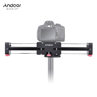 Andoer FT-40 Retractable Camera Video Slider Dolly Track Rail Stabilizer 40cm Length 80cm Actual Sliding Distance Aluminum Alloy Constructed for Canon Nikon Sony DSLR Camcorder Outdoorfree - intl