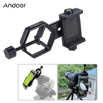 Andoer Metal Telescope Mount Adapter Bracket with Adjuatable Smartphone Cell Phone Holder Clip for Binocular Monocular Spotting Scope Microscope for iPhone 7Plus/ 7/ 6s/ 6Plus Outdoorfree ^ - intl