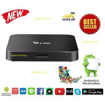 Android Smart TV Box TX3 pro UHD 4K 64Bit Cpu Android Marshmallow 6.0